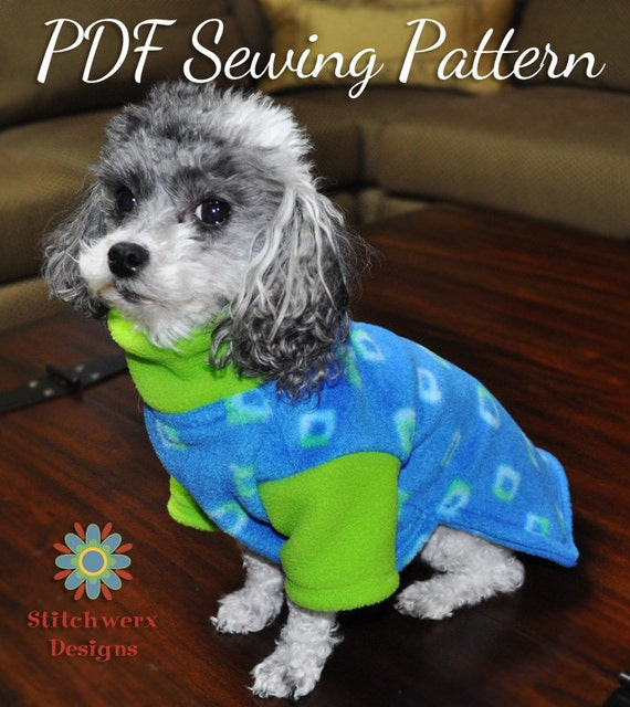 Dog Clothes Pattern Small Dog Fleece Sweater Sewing Pattern Etsy