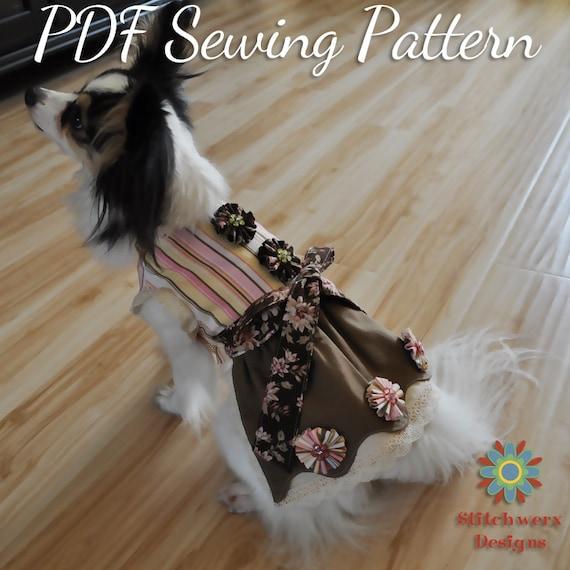 Small DOG DRESS PATTERN, Small Dog Clothes Sewing Pattern, Dog Dress ...