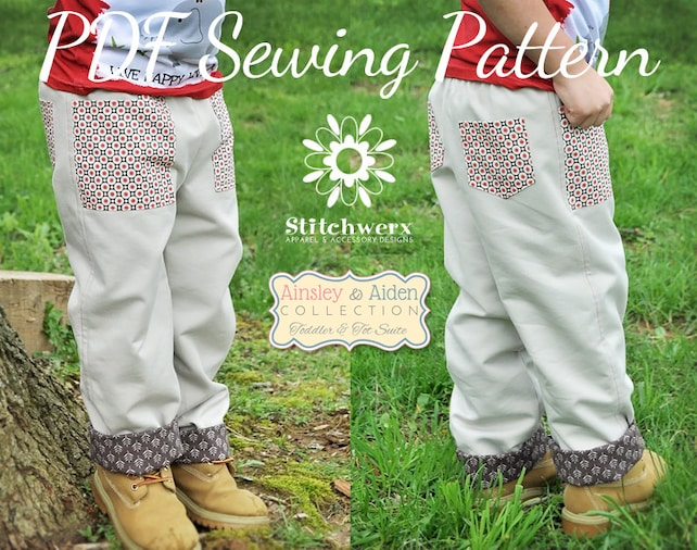 Lined Toddler Child Pants Sewing Pattern Toddler Child Etsy