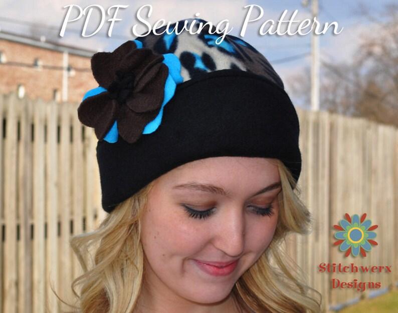 0029398f913 Fleece Hat Pattern PDF Sewing Pattern Womens Hat Pattern