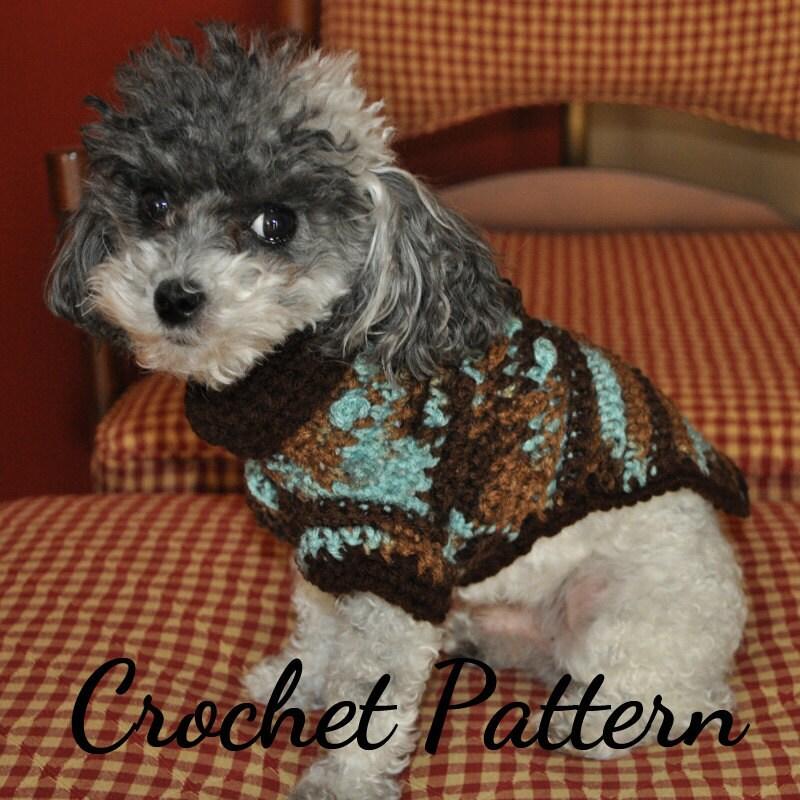 Dog Sweater Crochet Pattern Small Dog Sweater Crochet Dog Etsy