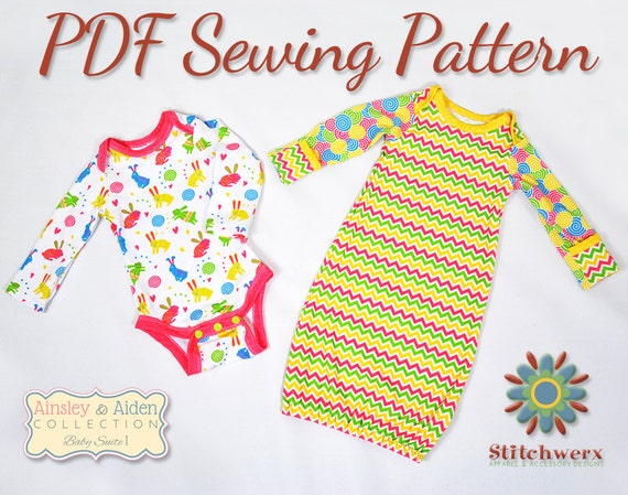 ONESIE SEWING PATTERN Baby Bodysuit Pattern Baby T Sewing