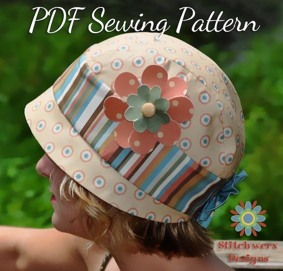 Vintage Cloche HAT SEWING PATTERN Digital Hat Pattern Retro