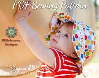 Garden Hat, PDF Sewing Pattern, Sun Hat Pattern, Baby Hat Pattern, Girls Hat Pattern, Wide Brim Hat, Hat Sewing Pattern, Gardening Hat