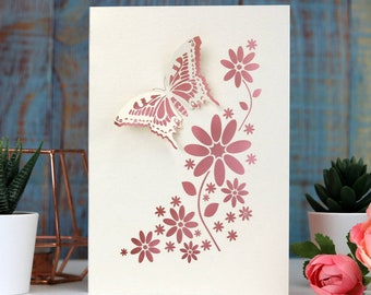 Laser cut Butterfly card, Papercut card for friends, all occasion cards, sku_butterfly