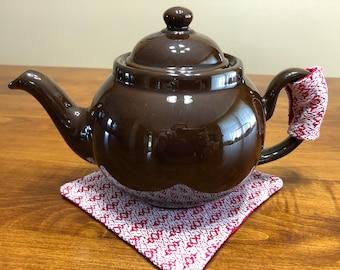 Tea Pot Handle Cover And Trivit, Handwoven Tea Cozy, Hand Made Tea Pot Handle Cover