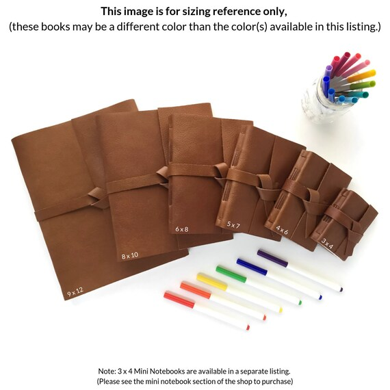 8642b11b070d Personalized Leather Sketchbook / Blank Pages / Custom Journal / Gift for  Artists/ Monogram Journal with Initials, Chocolate Brown