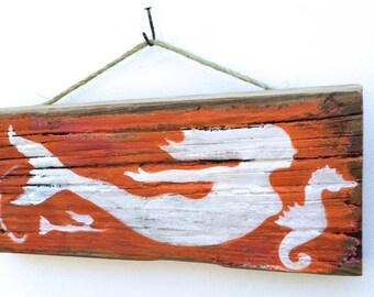 Personalize This Original Art Item-Mermaid Art Handmade on Reclaimed Wood Kids Room Sea Mermaid Nursery Mermaid Wall Art Mangoseed