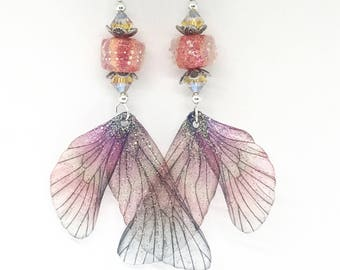 JBB Coral Over Coral Pink Yellow Sparkly Wings