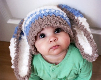 12c68cffd88 3 to 6m Boy Baby Easter Bunny Ears Beanie
