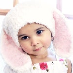 6 to 12m Bunny Hat, Baby Pink Bunny Ears, Spring Baby Hat , Cream Bunny Beanie, Bunny Rabbit Hat, Soft Bunny Photo Prop, Spring Gifts
