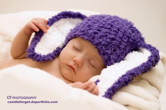 6 bis 12m-Halloween-Baby-Mütze lila Bunny Ohren Mütze   Etsy