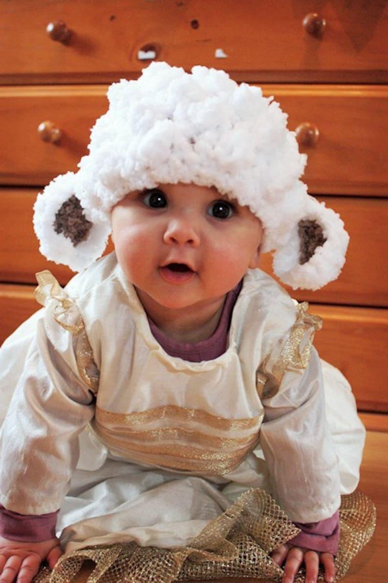 0 to 3m Lamb Hat Newborn Baby Lamb Beanie Baby Shower Gift  5ca27b6fcb0