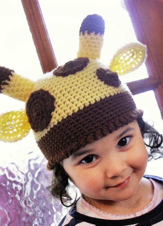 5 t Teen Kinder Giraffe Mütze Unisex gelb braun häkeln | Etsy