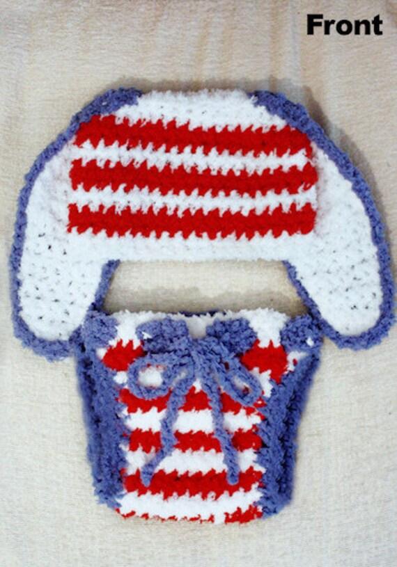 3 to 6m USA Baby Bunny Hat Pom Pom Diaper Cover Costume Red  04ae9ec2f46b