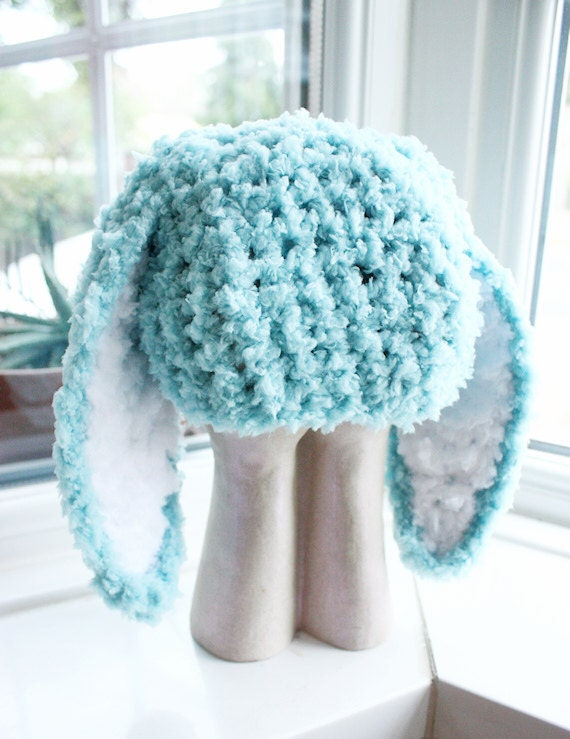 3 to 6m Infant Easter Bunny Hat Baby Beanie Crochet Boy Girl  0bf1a5266304