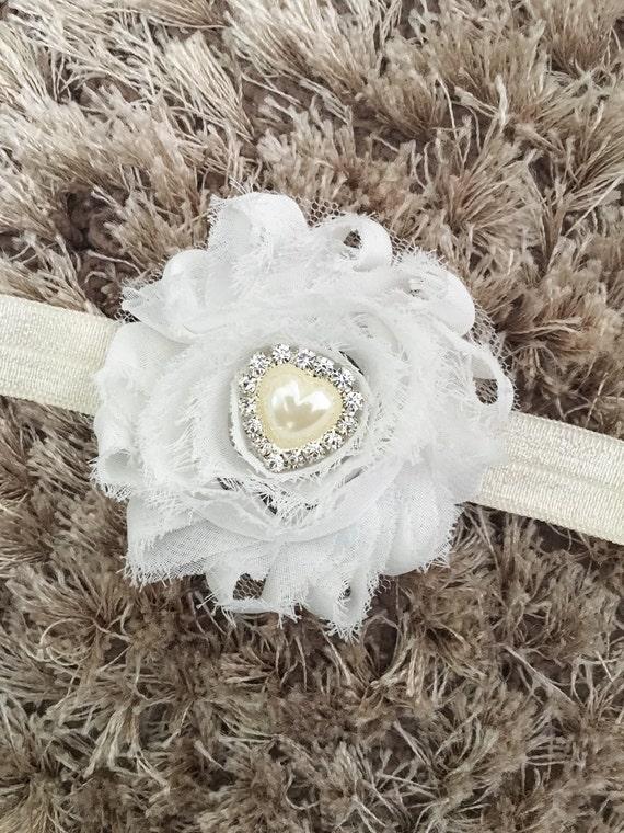Purple Chiffon Headband Vintage Style Flower Baby Headband Shabby Chic Newborn Headband Shambala Bead Sparkle Newborn Prop