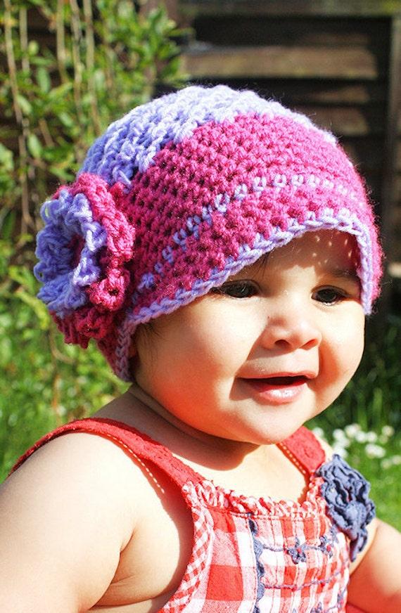 12 Bis 24m Mädchen Schiebermütze Hut Baby Mütze Kleinkind Etsy