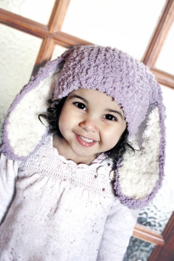 3 Bis 6m Lila Baby Bunny Mütze Baby Mädchen Baby Mütze Häkeln Etsy
