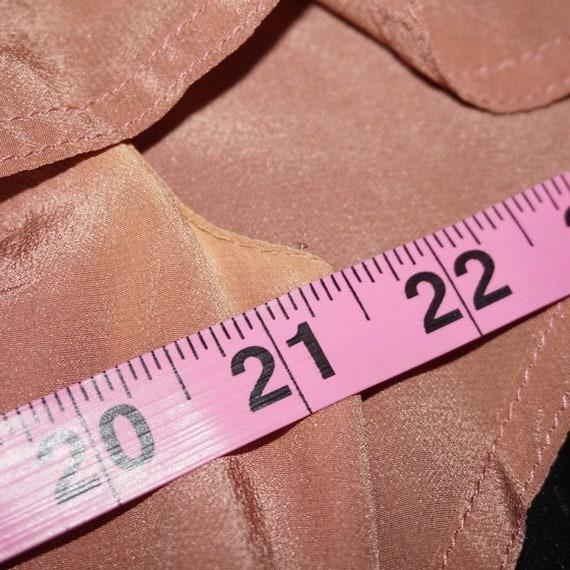 Vintage 40s Silk Pink Mauve Dress Large - image 7