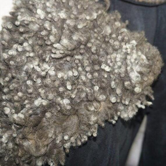Vintage 70s Suede Curly Lamb Penny Lane Coat - image 3