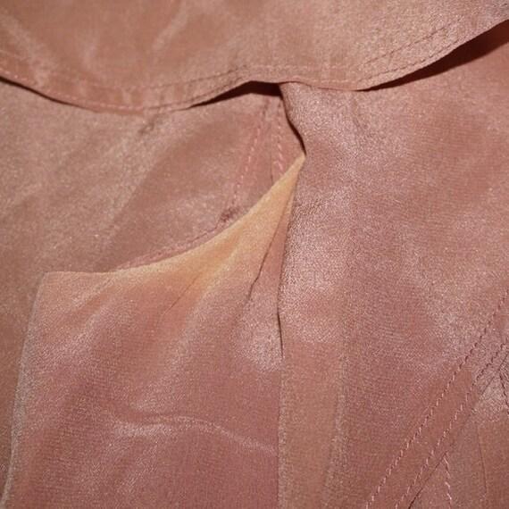 Vintage 40s Silk Pink Mauve Dress Large - image 6