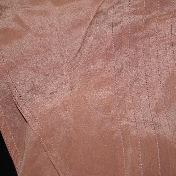 Vintage 40s Silk Pink Mauve Dress Large - image 5