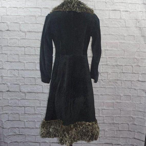 Vintage 70s Suede Curly Lamb Penny Lane Coat - image 4