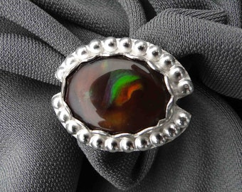 Mexican Fire Agate Silver Ring