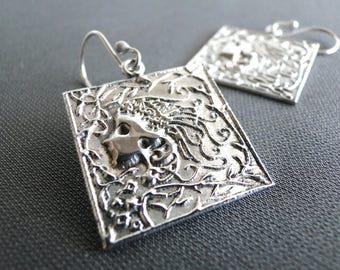 Art Nouveau Silver Earrings
