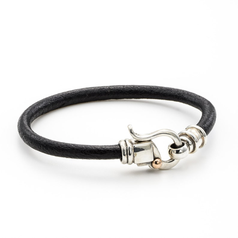LEATHER SILVER BRACELET Womens Leather Bracelet