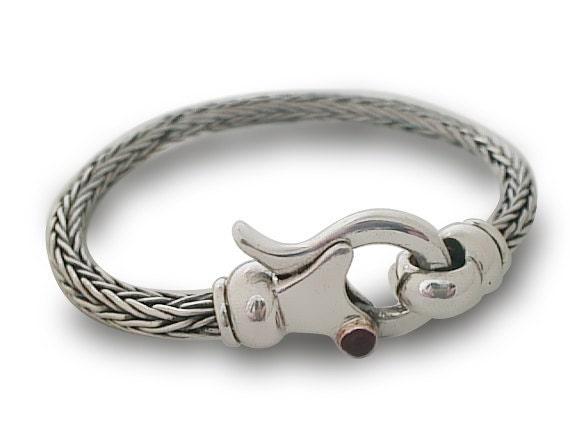 Mens Silver Bracelet Bracelet Braided Handmade Silver Etsy