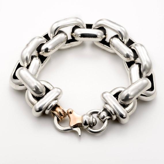 chain links bracelet chain bracelet women silver bracelet  6687d3e54