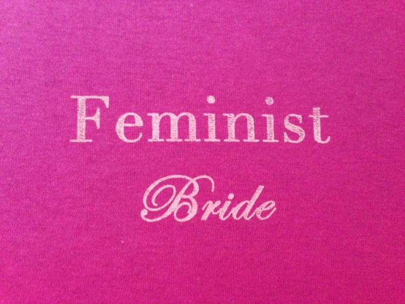 Pink Feminist Bride T-Shirt  SMALL image 0