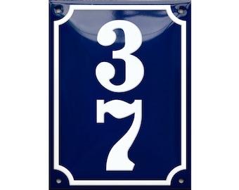 Custom Enamel House Number vertical 4 34 x 6 14 12 x 16 cm