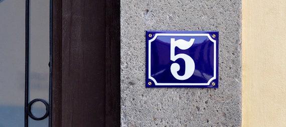 Numéros de maison émail bleu Français surplus d'inventaire