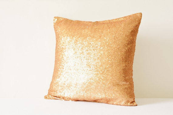 Rose Gold Pillow Cover Metallic Rose Gold Cushion Cover Etsy Classy Rose Gold Decorative Pillows