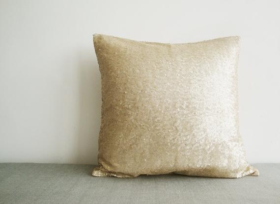 light gold sequin pillow cover matt beige sequin pillow. Black Bedroom Furniture Sets. Home Design Ideas