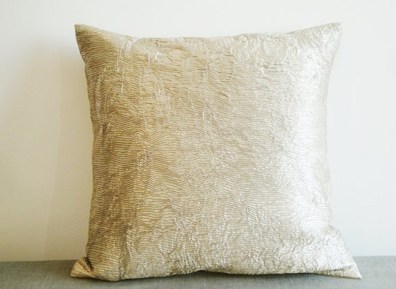 Faux Suede Metallic Pillow Cover