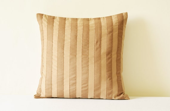 Pleasing Striped Brown Faux Suede Pillow Cover Applique Striped Brown Suede Cushion Cover Brown Suede Throw Pillow Brown Striped Decor Pillow Andrewgaddart Wooden Chair Designs For Living Room Andrewgaddartcom