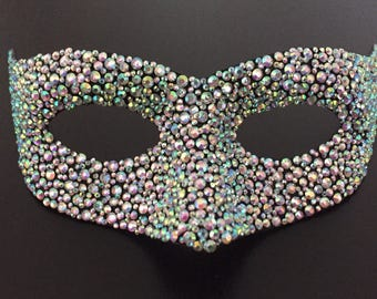 Lizard Crystal Iredescant Incognito Venice Carnival Mask