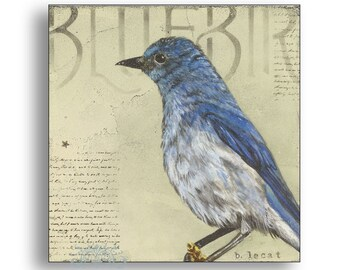 Bird Art, Original Acrylic Painting, Wall Art, Nature Art, Original Painting, Original Art, Bird Painting, Bluebird Painting, Wall Decor