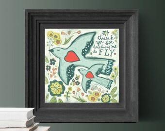 Teacher Gift, Art Print for Mom, Thank you gift for Mom