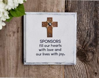 Confirmation Sponsor Gift, Godfather Gift, Godmother Gift, Gift for Godparents