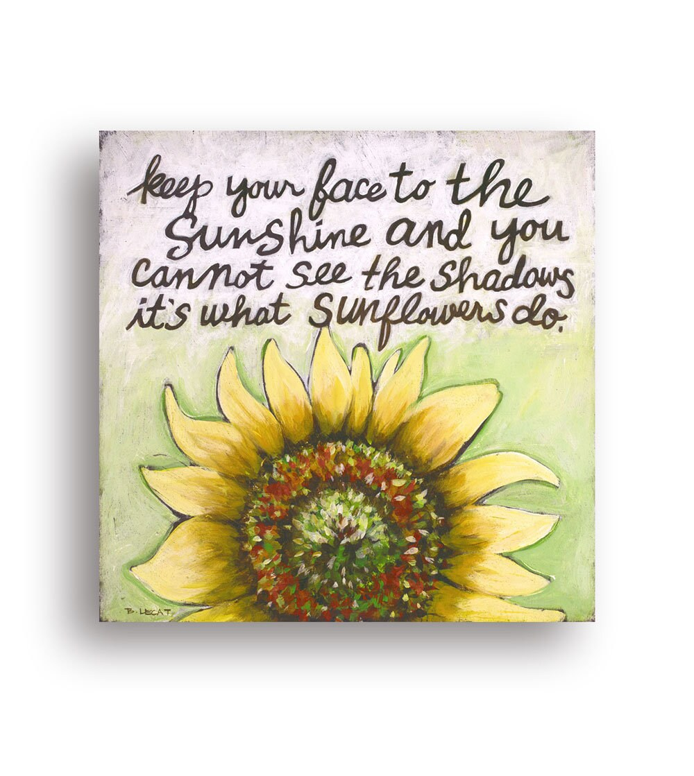 Sunflowers Gifts Encouraging Quote Helen Keller Quote Etsy