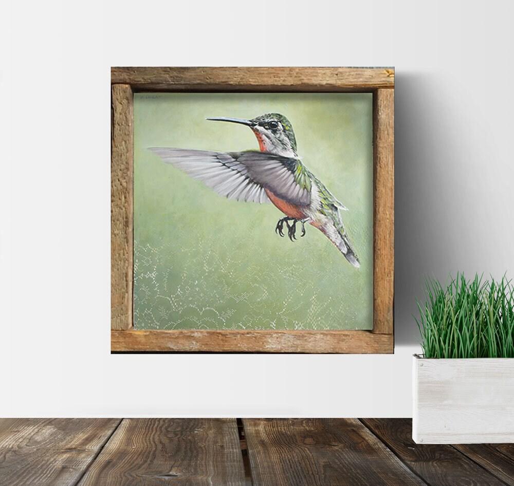 Kolibri Kunst gerahmt Wand-Dekor Vogel-Drucke | Etsy