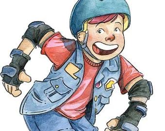 Custom Cartoon Roller Derby Portrait
