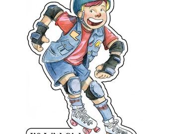 Roller Derby Kid - 3 inch sticker