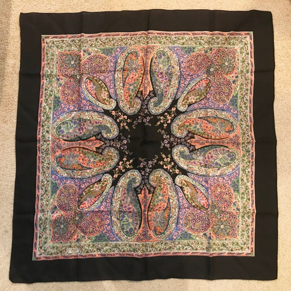 Liberty of London 1970s Silk Paisley Scarf