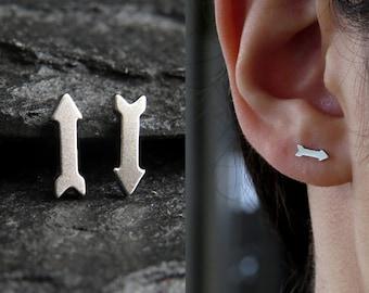 Arrow studs / arrow post earrings / geometric arrow post earrings / surgical steel earrings